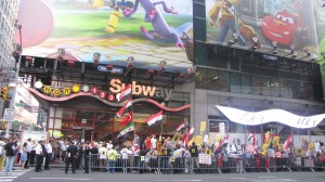 Misir_protestosu_Times_Square_New_York
